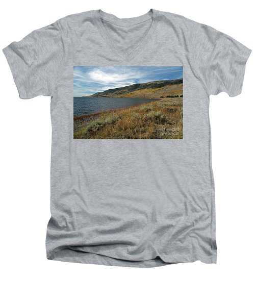 Fish Lake Ut Men's V-Neck T-Shirt by Cindy Murphy - NightVisions