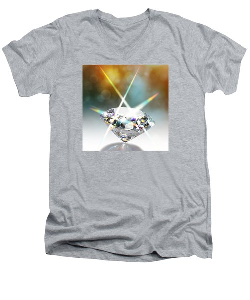 Flashing Diamond Men's V-Neck T-Shirt