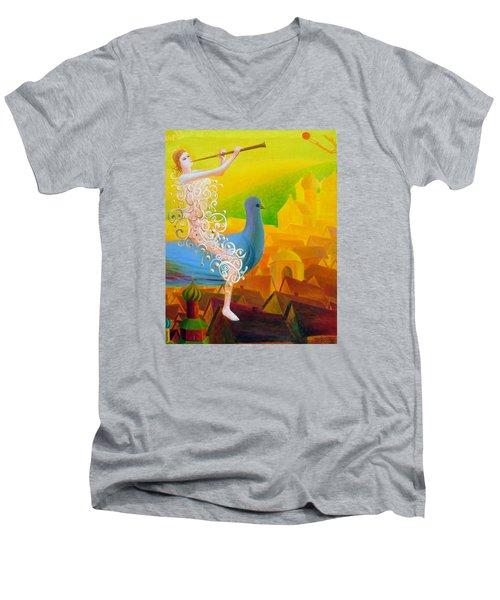 Flight Of The Soul Men's V-Neck T-Shirt