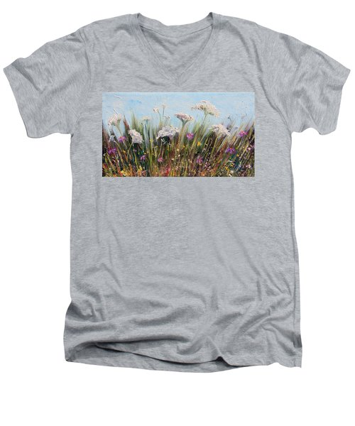 Flower Dance Men's V-Neck T-Shirt by Meaghan Troup