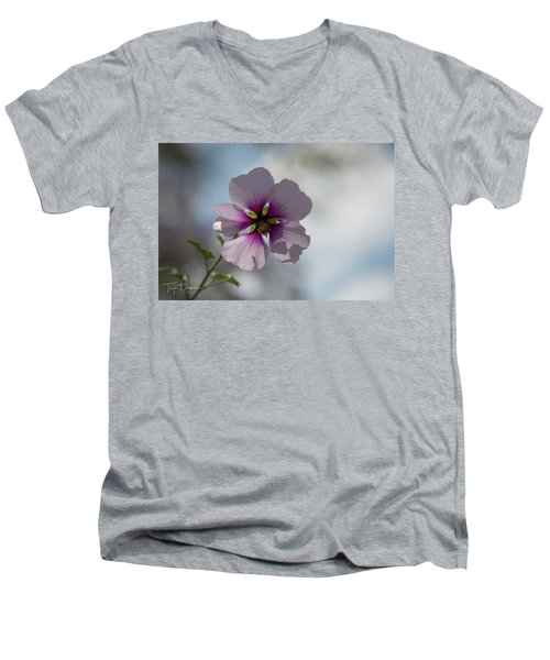 Flower In Focus Men's V-Neck T-Shirt