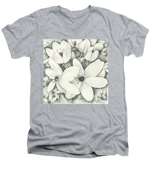Flowers Pencil Men's V-Neck T-Shirt