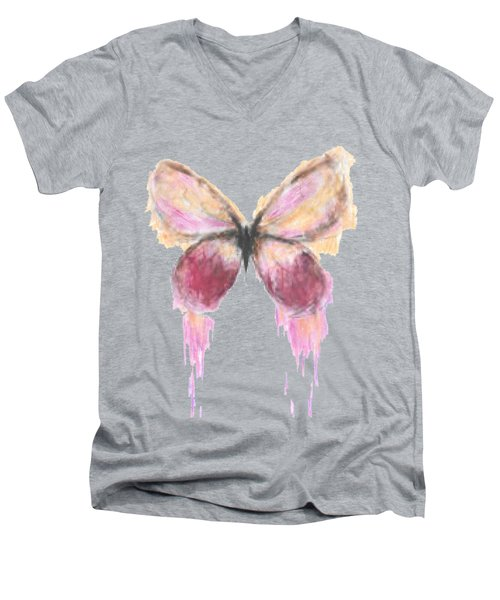 Flutterby  Men's V-Neck T-Shirt by Herb Strobino