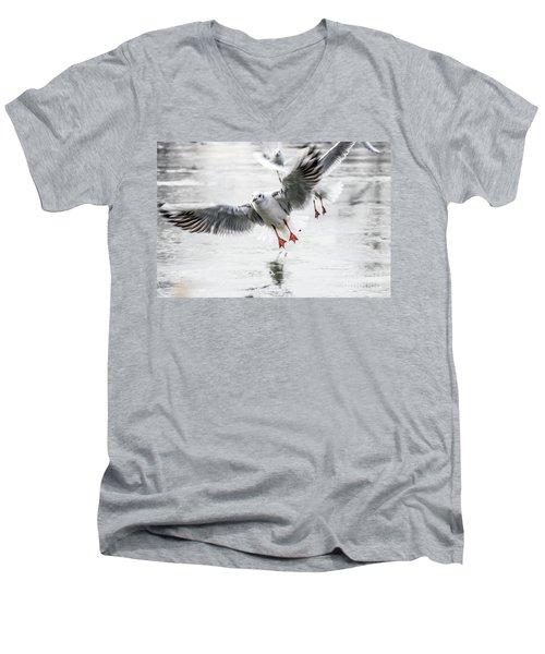 Flying Seagulls Men's V-Neck T-Shirt