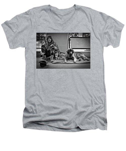 For The Love Of Dog Men's V-Neck T-Shirt