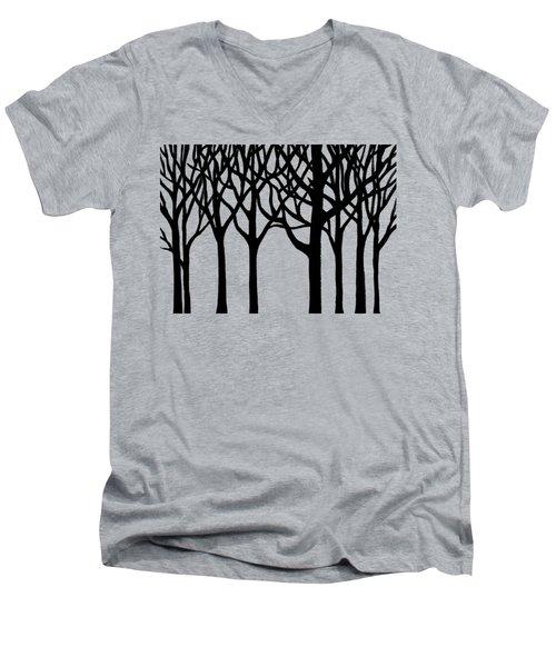 Forest Men's V-Neck T-Shirt by Irina Sztukowski