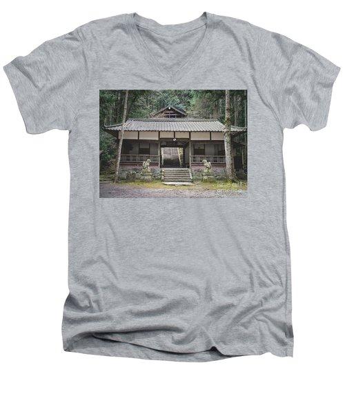 Forrest Shrine, Japan Men's V-Neck T-Shirt