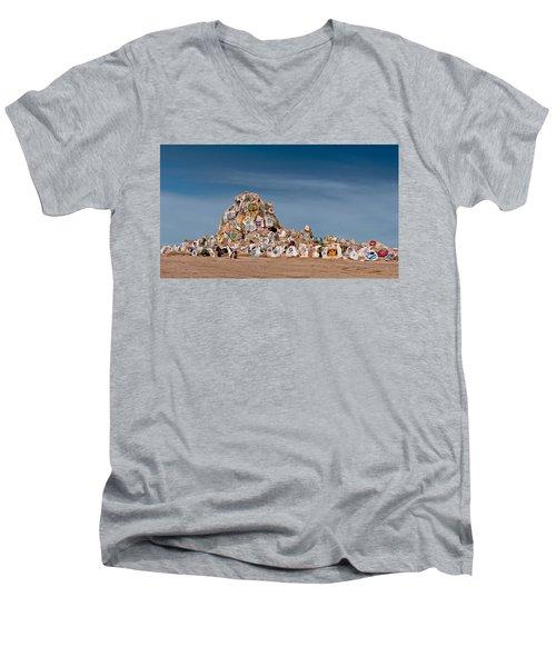 Fort Irwin Men's V-Neck T-Shirt by Jim Thompson