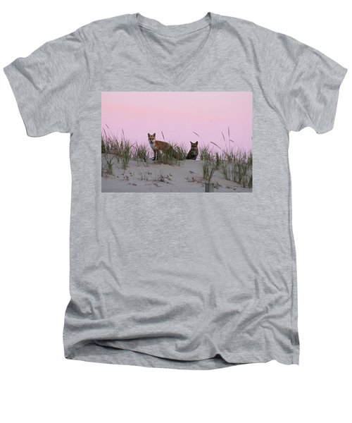 Fox And Vixen Men's V-Neck T-Shirt