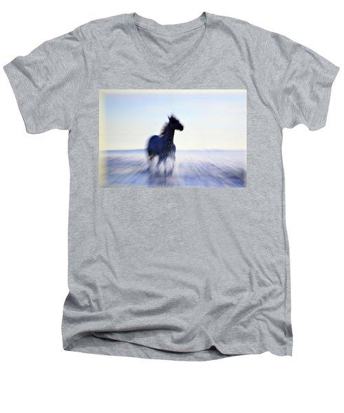 Men's V-Neck T-Shirt featuring the photograph Freedom by Allen Beilschmidt