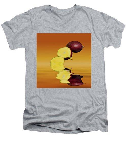 Fresh Ripe Mango Fruits Men's V-Neck T-Shirt by David French