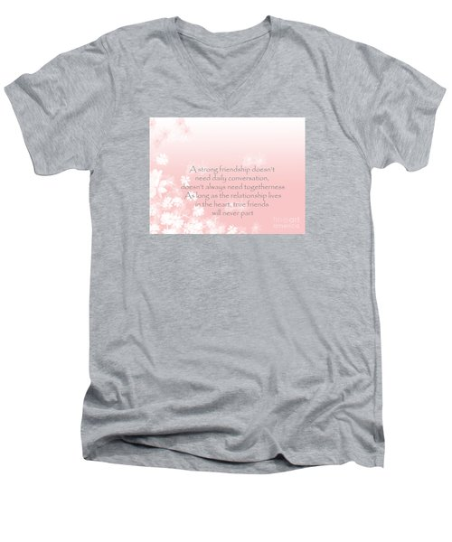 Men's V-Neck T-Shirt featuring the digital art Friendship by Trilby Cole