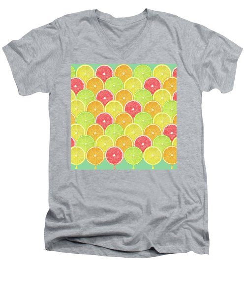 Fresh Fruit  Men's V-Neck T-Shirt by Mark Ashkenazi