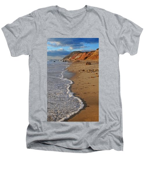 Gayhead Cliffs Marthas Vineyard Men's V-Neck T-Shirt