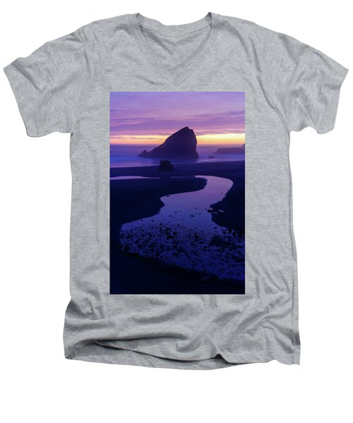 Men's V-Neck T-Shirt featuring the photograph Gem by Chad Dutson