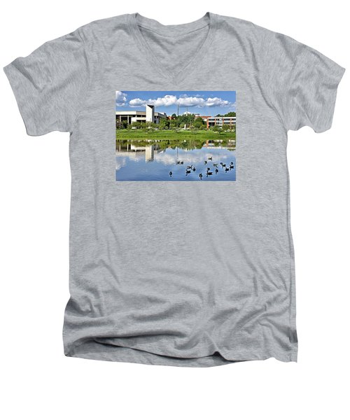 George Mason University Men's V-Neck T-Shirt by Brendan Reals