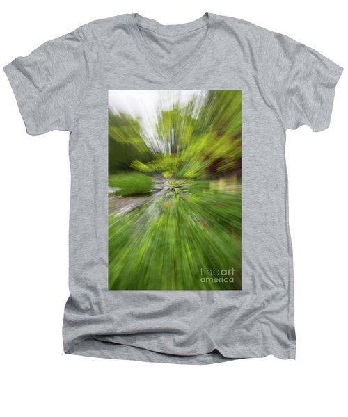 Giverny Monet's Garden Men's V-Neck T-Shirt