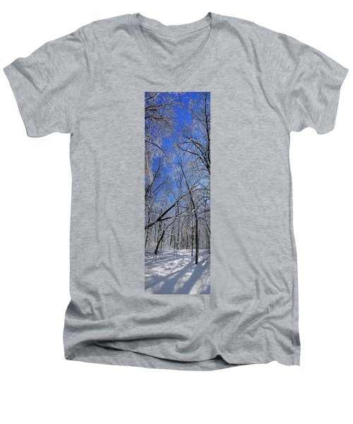 Glowing Forest, Knoch Knolls Park, Naperville Il Men's V-Neck T-Shirt