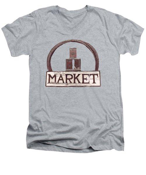 Going To The Market Men's V-Neck T-Shirt by Pamela Walton