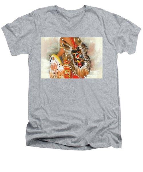 Grand Prairie Texas Pow-wow Men's V-Neck T-Shirt