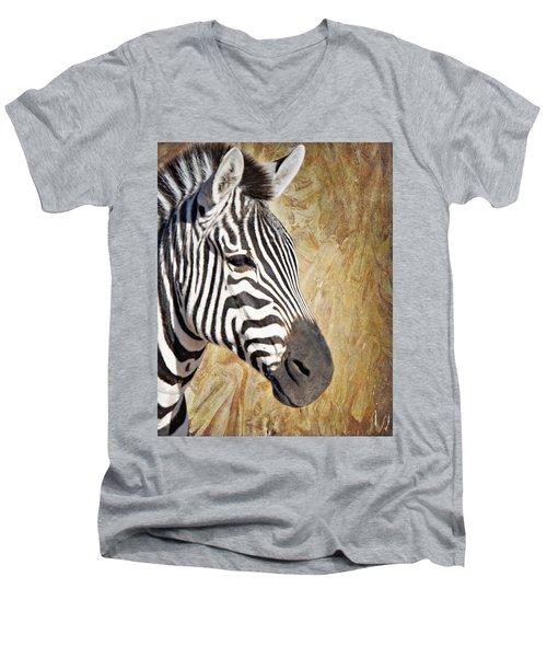 Grant's Zebra_a1 Men's V-Neck T-Shirt