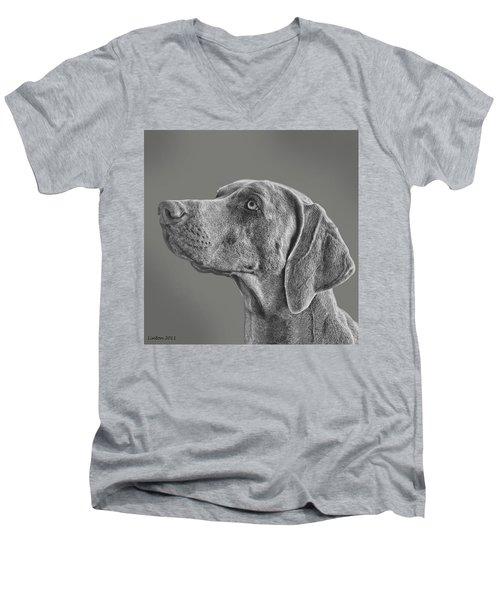 Gray Ghost Men's V-Neck T-Shirt