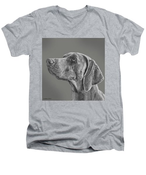 Gray Ghost Men's V-Neck T-Shirt