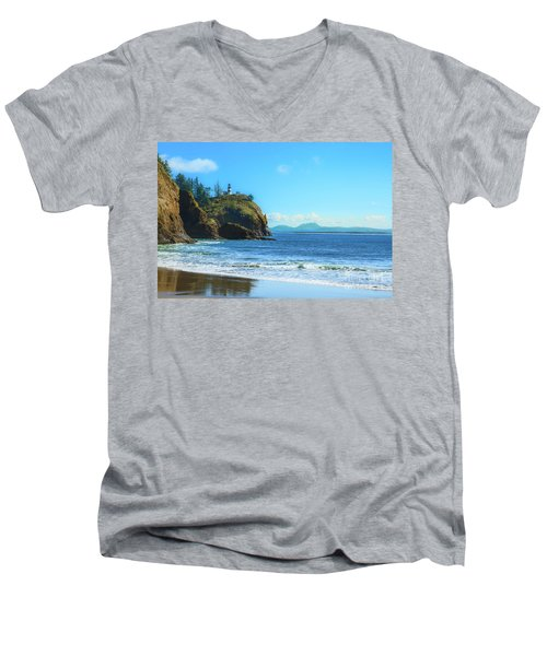 Great View Men's V-Neck T-Shirt by Robert Bales