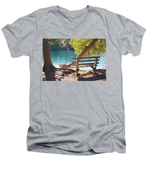 Green Lakes Men's V-Neck T-Shirt