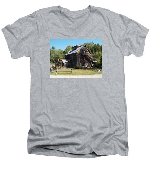 Grist Mill Men's V-Neck T-Shirt by Catherine Gagne