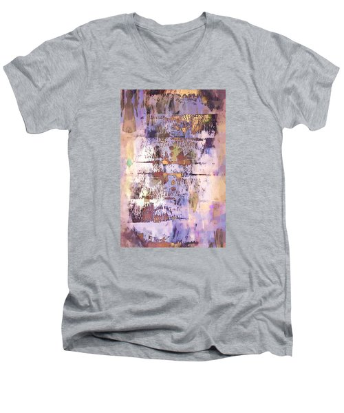 Grungy Abstract  Men's V-Neck T-Shirt