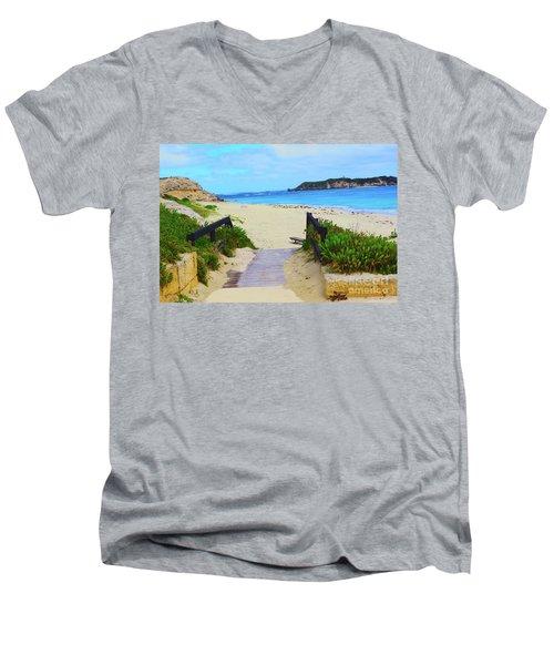 Hamelin Bay Men's V-Neck T-Shirt by Cassandra Buckley