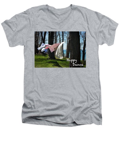 Happy Dance Men's V-Neck T-Shirt