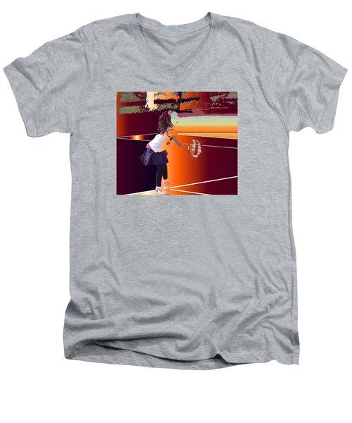 Happy Girl Men's V-Neck T-Shirt