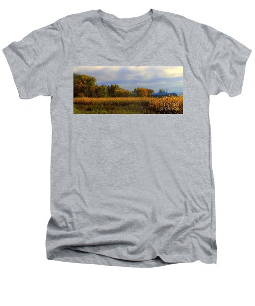 Harvest Men's V-Neck T-Shirt by Elfriede Fulda