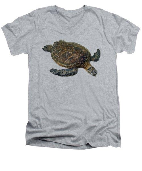Hawaiian Sea Turtle Men's V-Neck T-Shirt by Pamela Walton