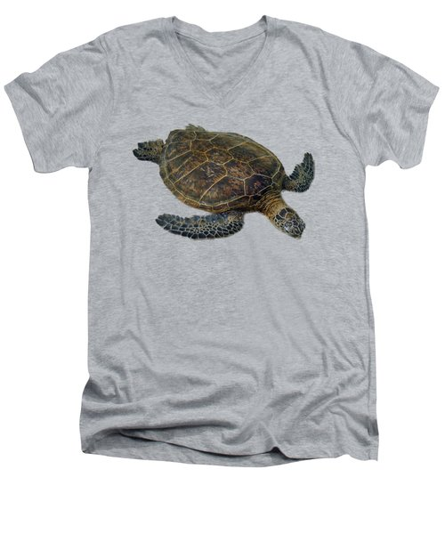 Hawaiian Sea Turtle Men's V-Neck T-Shirt