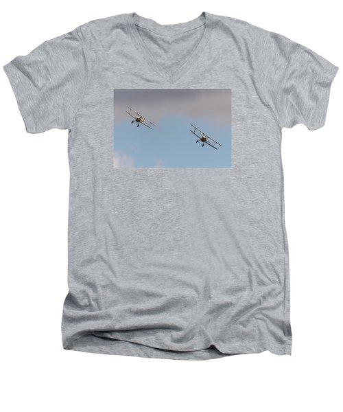 Hawker Nimrods Men's V-Neck T-Shirt by Gary Eason