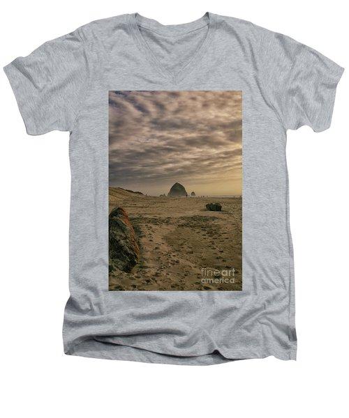 Haystack Rock Men's V-Neck T-Shirt
