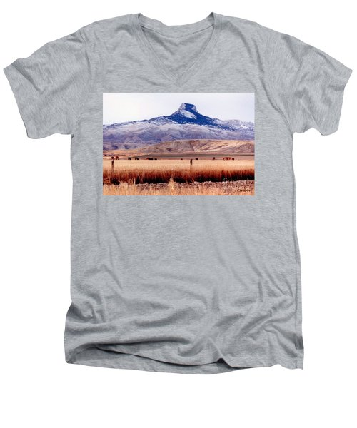 Hart Mountain - Cody,  Wyoming Men's V-Neck T-Shirt