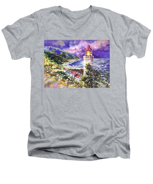 Heceta Head Lighthouse Men's V-Neck T-Shirt