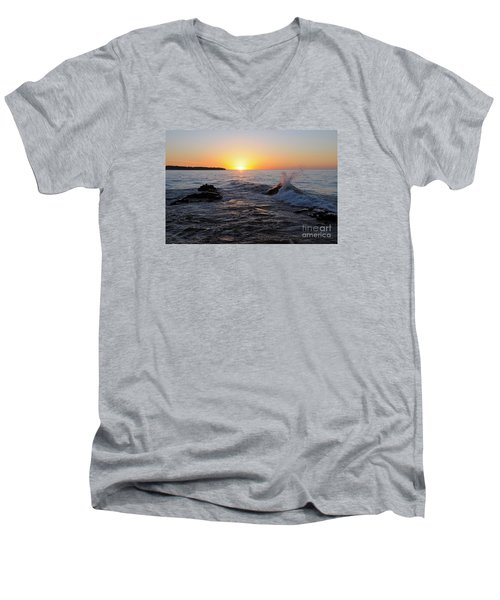 Men's V-Neck T-Shirt featuring the photograph Here Comes The Sun by Sandra Updyke