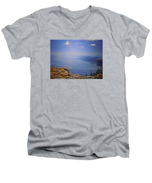 High Above Men's V-Neck T-Shirt by Dan Whittemore