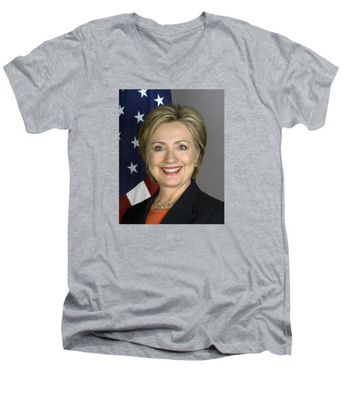 Hillary Clinton Men's V-Neck T-Shirt by War Is Hell Store