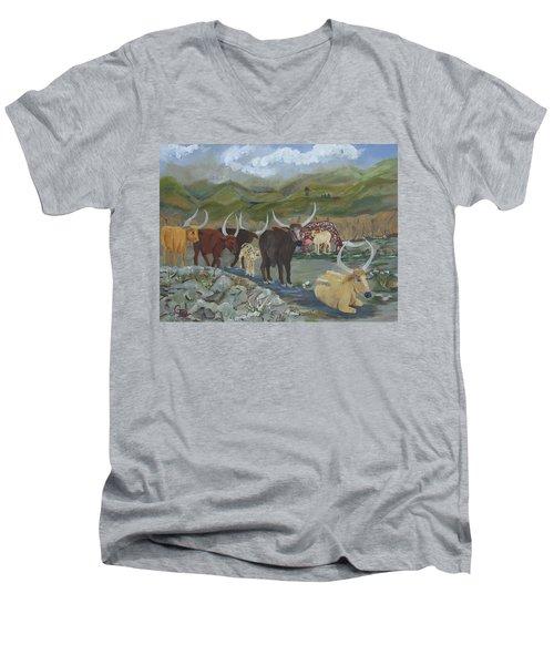 Home On The Range Men's V-Neck T-Shirt