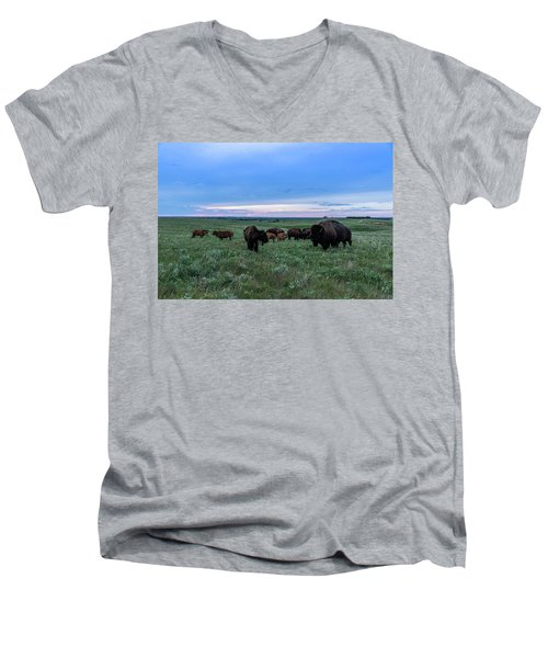 Home On The Range Men's V-Neck T-Shirt