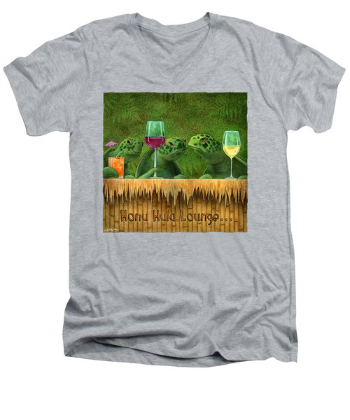 Honu Hula Lounge... Men's V-Neck T-Shirt