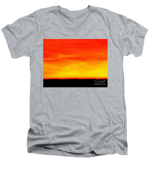 Horizon Men's V-Neck T-Shirt by Tim Townsend