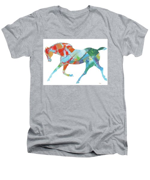 Horse Of Color Men's V-Neck T-Shirt
