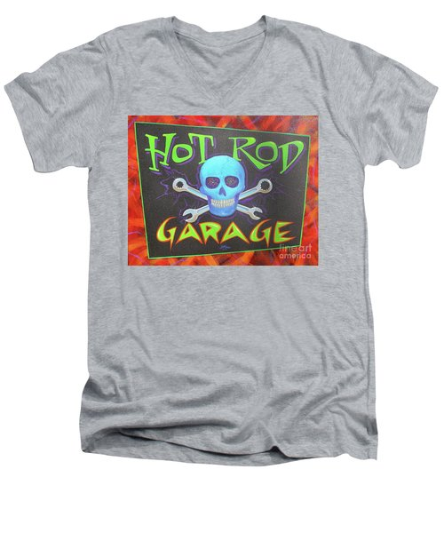 Hot Rod Garage Men's V-Neck T-Shirt